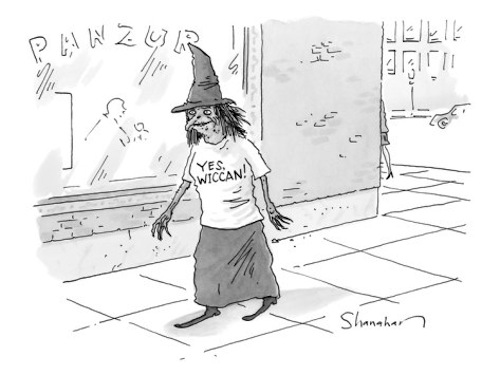 New Yorker cartoon: the pagan version of blackface | Backward Messages